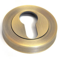 Euro Escutcheon - Matt Antique Brass Finish