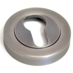 Euro Escutcheon - Matt Gun Metal Finish
