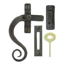 Blacksmith Beeswax Curved Lockable Monkeytail Casement Fastener