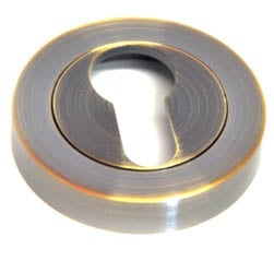 Euro Escutcheon - Antique Brass Finish