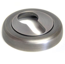 Euro Escutcheon with a Radius Edge Rose - Matt Gun Metal Finish