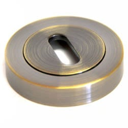 Round Escutcheon - Antique Brass Finish