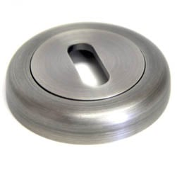 Round Escutcheon with a Radius Edge - Matt Gun Metal Finish