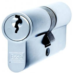 Double Euro Cylinder Lock - Polished Chrome