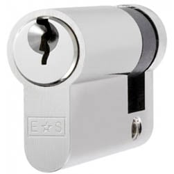 Single Euro Cylinder Lock Keyed to Differ - Polished Chrome