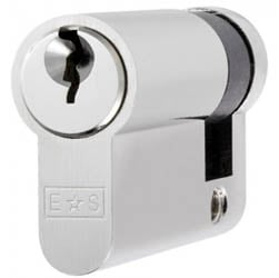 Single Euro Cylinder Lock Keyed to Differ - Satin Chrome