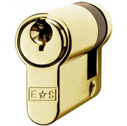 Single Euro Cylinder Lock Keyed to Differ - Polished Brass