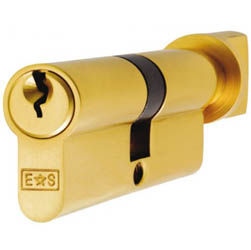 Thumb turn Euro Cylinder Lock - Polished Brass