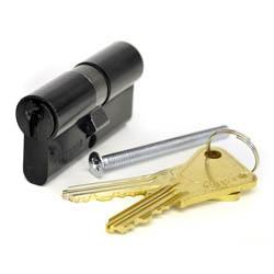 Kirkpatrick Black Cast Iron Euro Cylinder Lock Thumb Turn