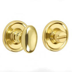 Croft 2246 Bathroom Oval Knob Turn and Release Raised Edge Covered Rose