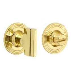 Croft 2252 Bathroom Stepped Turn and Release Reeded Covered Rose