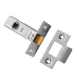 Tubular Mortice Latch - Nickel Plated End Plates