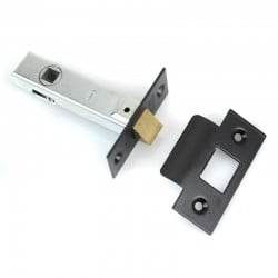 Tubular Mortice Latch - Black End Plates
