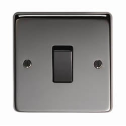 Black Nickel Single Light Switch