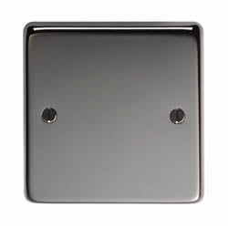 Black Nickel Single Blank Plate