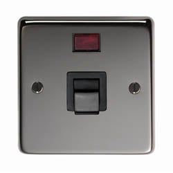 Black Nickel Single Plate Cooker Switch