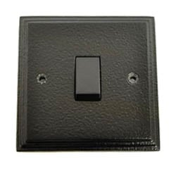 Black Intermediate Single Light Switch