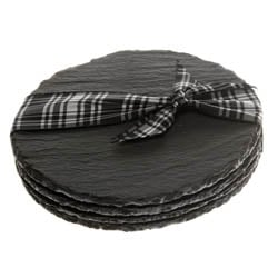 Just Slate Coasters - Round Set of Four