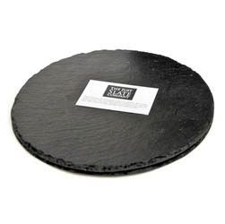 Just Slate Round Placemats - Set of Two