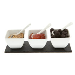 Just Slate Condiment Pots