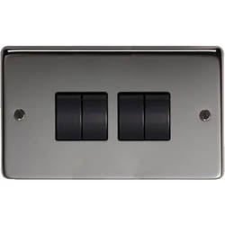 Black Nickel Quad Light Switch