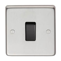 Satin Stainless Steel Single Light Switch