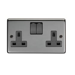 Black Nickel Double Socket