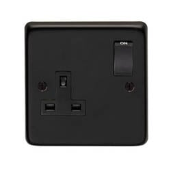 Matt Black Single Socket
