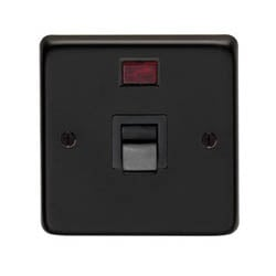 Matt Black Single Plate Cooker Switch
