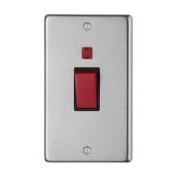 Satin Stainless Steel Double Plate Cooker Switch