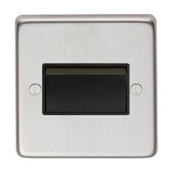 Satin Stainless Steel Fan Isolator Switch