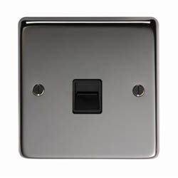 Black Nickel BT Slave/BT Master Telephone Socket