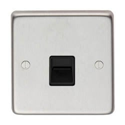 Satin Stainless Steel BT Slave/BT Master Telephone Socket
