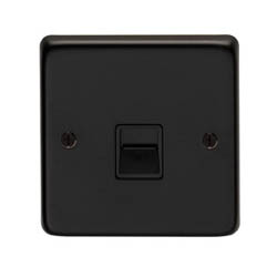 Matt Black BT Slave/BT Master Telephone Socket
