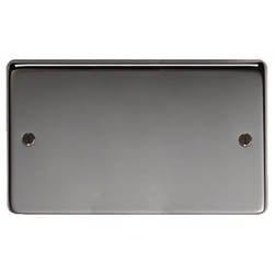 Black Nickel Double Blank Plate