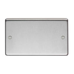 Satin Stainless Steel Double Blank Plate