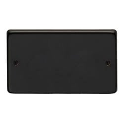 Matt Black Double Blank Plate