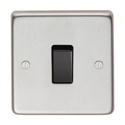 Satin Stainless Steel Single DP Switch - 20 Amp