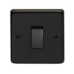 Matt Black Single DP Switch - 20 Amp