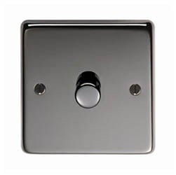 Black Nickel Single Dimmer Switch - 400w