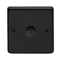 Matt Black Single Dimmer Switch - 400w