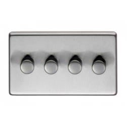 Satin Stainless Steel Quad Dimmer Switch - 400w