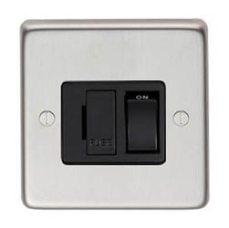 Satin Stainless Steel Fused Switch - 13 Amp