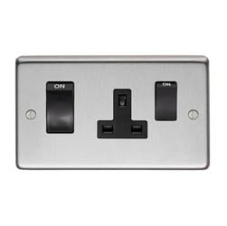 Satin Stainless Steel Switch & Socket - 45 Amp