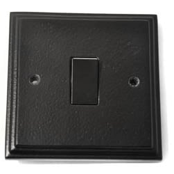 Black Single Light Switch | Electrical Switches