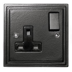 Black Single Socket