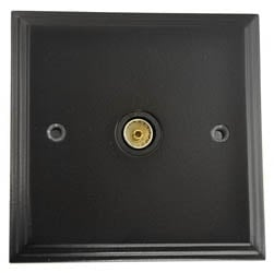 Black TV Coax Socket