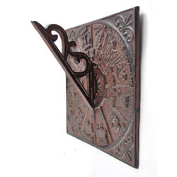 Cast Iron Sundial - Wall Mounted