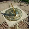 Brass Sun and Moon Sundial