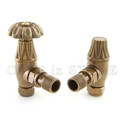 Aster Traditional Manual Radiator Valves - Nickel